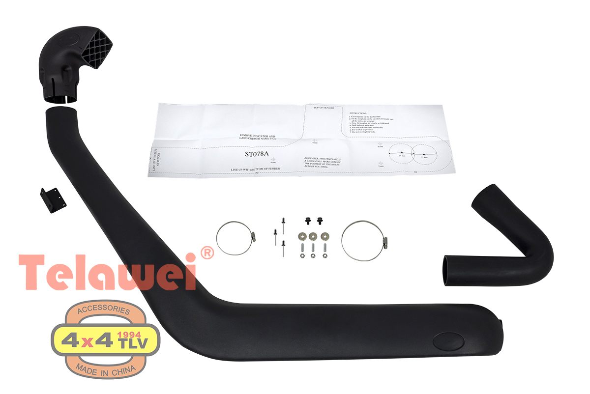 Шноркель Telawei для Toyota Land Cruiser 78 1985-2007 4.2D (1HZ) Артикул ST078A